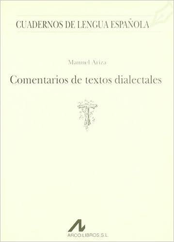 Comentarios de textos dialectales T Cuadernos de lengua española ...