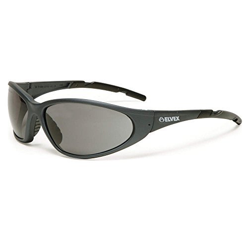 Elvex Gray Safety Glasses, Scratch-Resistant,