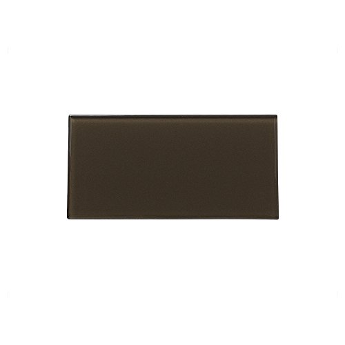 Aspect Peel and Stick Backsplash Sienna Bark Glass Tile for Kitchen and Bathrooms (3