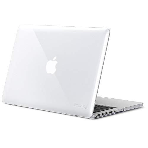 (Kuzy - Older MacBook Pro 15.4 inch Case Model A1398 with Retina Display Soft Touch 15 inch Plastic Hard Shell Cover - Clear )