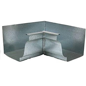 AMERIMAX HOME PRODUCTS 15205 4-Inch Mill Finish Galvanized Left End Cap