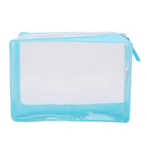 Zippered Security Bags Transparent Travel Comestic Makeup Brushes Storage Bag (Color - Sky Blue) -