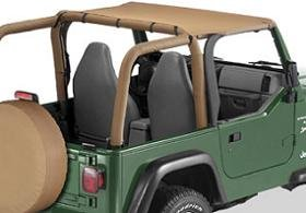 Bestop Bikini Top For 1998   2001 Jeep Wrangler