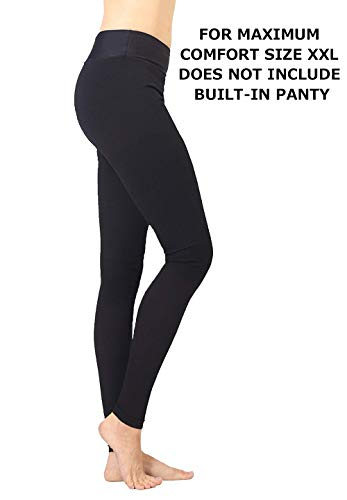 Extra Firm Footless Graduated Compression Microfiber Leggings Opaque Pants (20-30 mmHg) with Control Top (XX-Large)