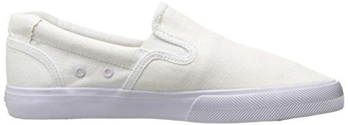 C1RCA Herren Corpus Slip-On leichte Einlegesohle Skate-Schuh Weiß / Gum / Leinwand
