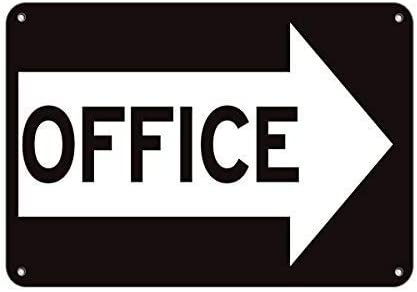 Office Right Arrow Business Sign Business Directional Sign Aluminum METAL Sign
