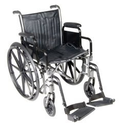 McKesson Drive Wheelchair Standard Detachable Padded Desk Arms Composite Black 18 Inch 300 - Arms Padded Desk 18