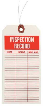 Value Brand 1HAC1 Inspctn Tag Ppr Inspection Record PK1000
