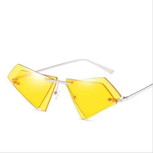 De Ojo Blue yellow Sol Lente De Gato De De Protección Retro Opcional UV Doble Forma Gafas UV400 qFECx