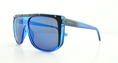 Gucci Crystal Sunglasses (Gucci Sunglasses - 3705 / Frame: Blue Black Crystal Lens: Blue Sky Mirror)