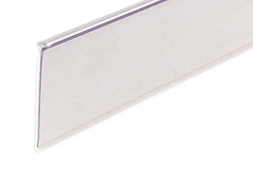 "FFR Merchandising 4400558501 DSE-200 Economy Self-Adhesive Data Strip Label Holder, 1 1/4"" Height, White (Pack of 50)"