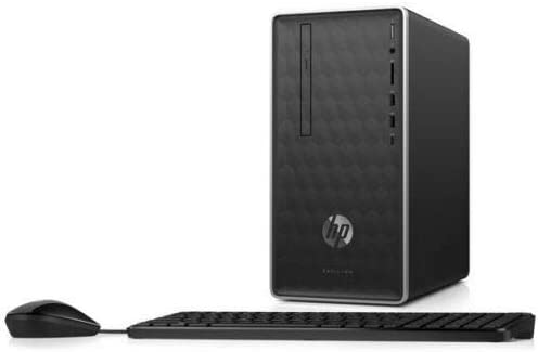 HP Pavilion 590-p0006na Mini PC desktop Intel Core i3-8100T, 4GB RAM, 1TB HDD, DVDRW, Windows 10 Home – 3ZZ31EA#ABU