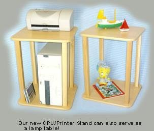 Wild Zoo Furniture CPU and Printer Stand, Maple/Tan by Wild Zoo Furniture