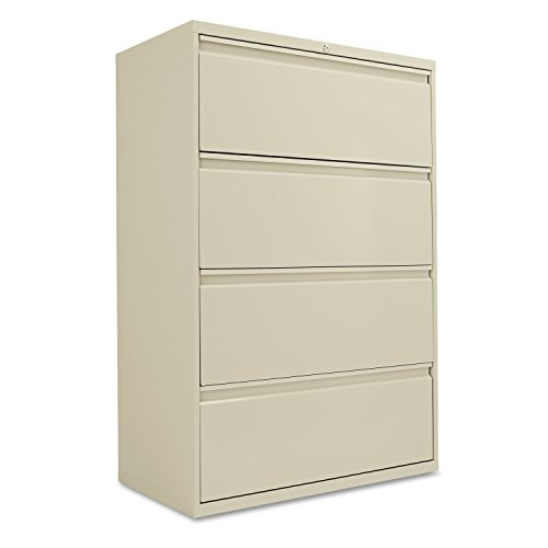 Alera ALELF3654PY Four-Drawer Lateral File Cabinet, 36w x 19-1/4d x 53-1/4h, Putty