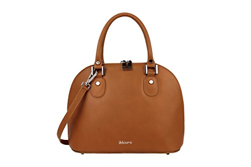 Brown Chrome satchel ikkiomi Bag yellow Pure Domed 0906 Color hand Leather La wPRxBR