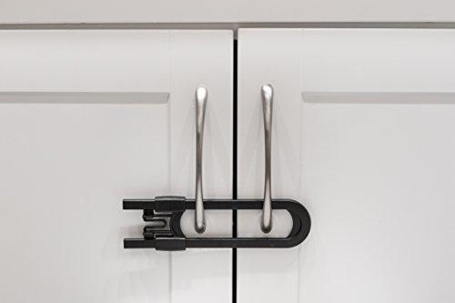 kitchen cabinet locks lowes walmart locking shelf clips sliding for child safety baby proof your bathroom storage