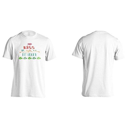 Küss Mich Im Glücklich Herren T-Shirt k986m
