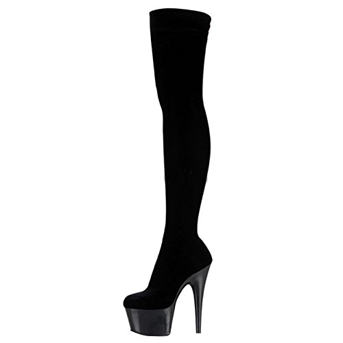Pleaser Day and Night Plateau Overkneestiefel ADORE-3002