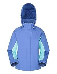 Mountain Warehouse Shelly II Kids Jacket - Waterproof Rain Jacket Blue 9-10 years