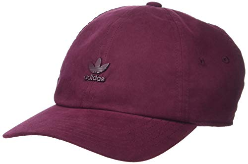 adidas Originals Men's Relaxed Metal Strapback Cap, Maroon/Maroon, ONE SIZE (Mens Strapback Hats)