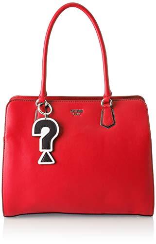 Guess - Felix, Shoppers y bolsos de hombro Mujer, Rojo (Lipstick/Lip), 34x28x15.5 cm (W x H L)