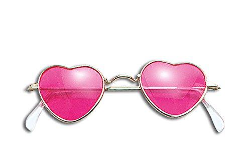 de Amour Lunettes 60 de nbsp;Déguisement en forme objectif pour Lunettes soleil Rose cœur hippie années Paix femme 8qSZAnxE