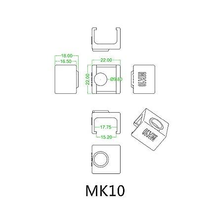 3 unidades MK10 calcetines de silicona en lugar de aislamiento de ...
