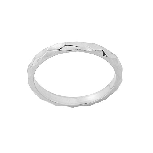 Stackable 10k White Gold Sizab