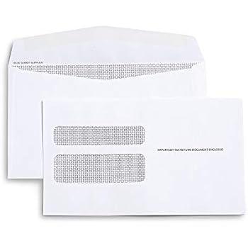 Amazon com : TOPS 2219LR Double Window Tax Form Envelope for