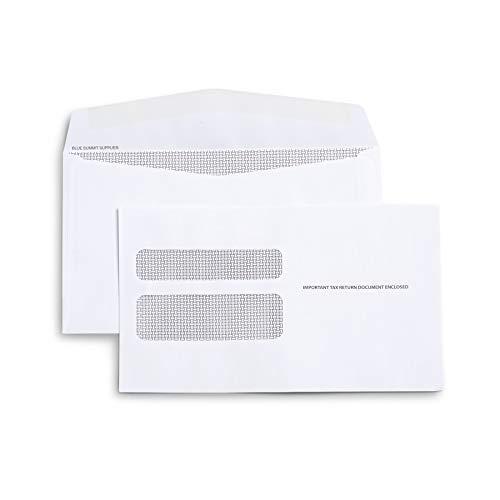 50 W2 Tax Envelopes - Designed for Printed W2 Laser Forms from QuickBooks Desktop or Similar Tax Software - 5 5/8 Inch X 9 Inch, Gummed Flap, 50 Form Envelopes (Not for QuickBooks Online)