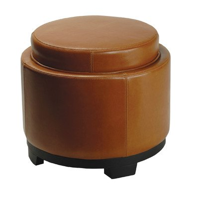 Cocktail Ottomans Round Tufted Upholstered Rectangular