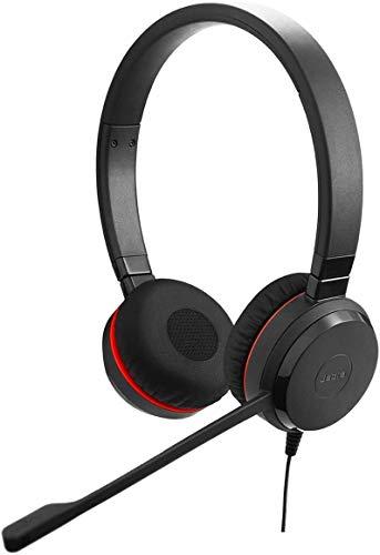 Jabra Evolve 30 MS stereo headset – Microsoft gecertificeerde hoofdtelefoon voor VoIP softphone met passieve noise…