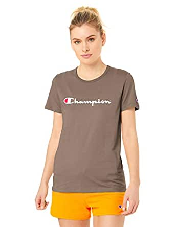 Champion Women's Script Short Sleeve Tee, Stoney Roads, X-Small