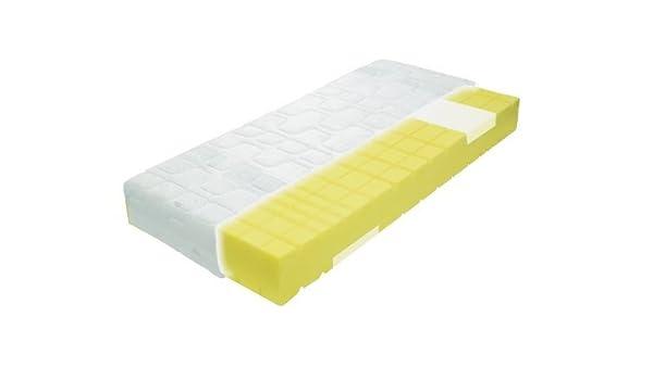 Colchón de espuma fría de 9 zonas con zona de confort del hombro (Viscoelástica de espuma) dureza 3/H3 (fijo), gomaespuma, blanco, 120 cm x 200 cm: Amazon.es: Hogar