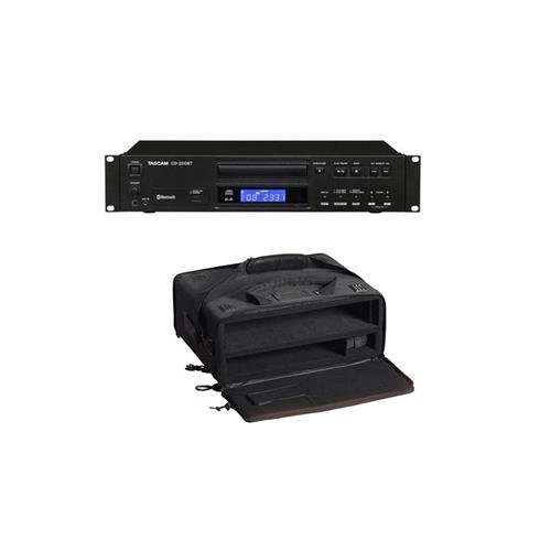 - Tascam CD-200BT Rackmount CD Player with Bluetooth Receiver, 200 Ohms Output Impedance, 3.5mm Stereo Auxiliary Input - With Gator Cases GSR-2U Studio 2 Go Carrying Case