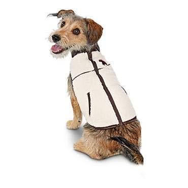 Bond & Co. Faux-Shearling Dog Coat~Large~