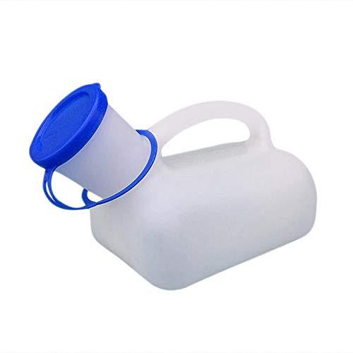 Kbsin212 Draagbaar noodtoilet, 1000 ml, voor op reis, op de camping, draagbaar, kunststof met handgreep, gemakkelijk te…