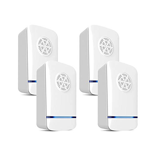 Srocker Ultrasonic Pest Repeller, Electronic Pest Control Repeller Plug In, Pest Repellent Indoor for Insect, Rat, Ant, Mosquito, Mice, Flea, Fly, Spider, Roach, Rodent (4 Packs)