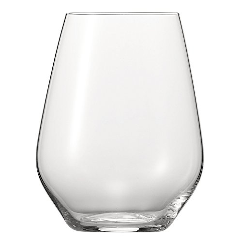 Spiegelau 4800282 Authentic Casual Stemless Wine Glasses (Set of 4), Medium, Clear ()