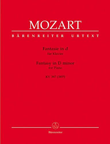 Mozart: Fantasy in D Minor, K. 397 (385g) [Bärenreiter]