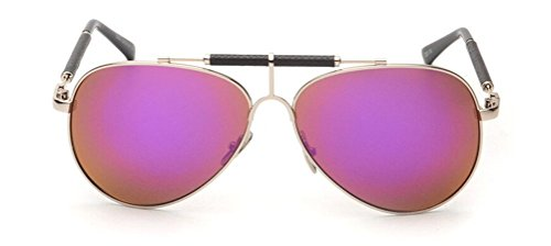 GAMT Vintage Mirrored Aviator Sunglasses Metal Frame Double Girder Style - The Hut Sunglass Outlet