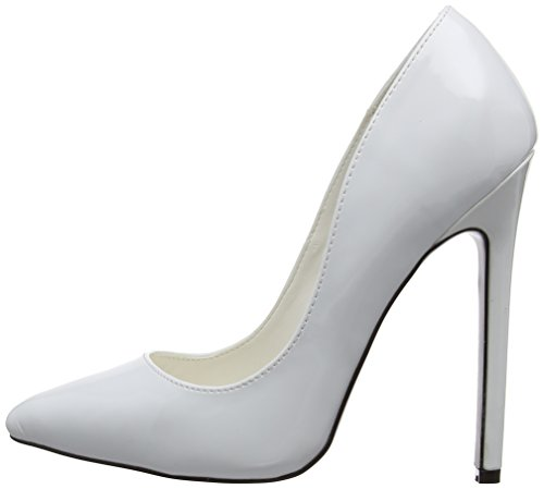 Mujer Blanco Pleaser Eu Tacones sexy Weiß Pat 20 white nWFIqpfF