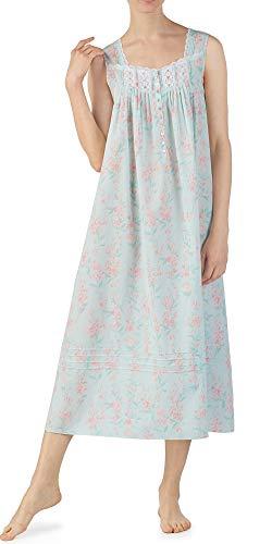 - Eileen West Blossom Ballet Nightgown (5219974) M/Light Aqua Floral