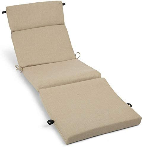 MISC 72″ Lounge Cushion Sandstone Brown Outdoor 6ft Patio Chaise Pad