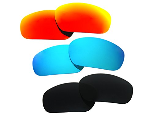 3 Pairs Polarized Replacement Sunglasses Lenses for Oakley Jawbone with Excellent UV Protection by C&D