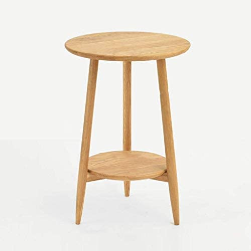 GWW Perfect Furniture Wooden Triangular Table, Double Layer Storage Rack Household Sofa Side Table Flower Shop Decoration Flower Stand (Color : C, Size : 426035CM)