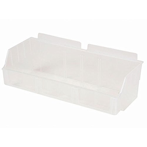 New Standard Clear Storbox wide for Slatwall 4.65''d x 11.42''w x 3.35''h by Storbox