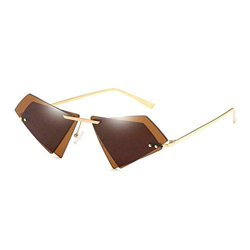 Metal Film De Nueva Gafas Lentes Gafas Marco Ocean Irregulares De Sol 3 Sol Moda Calle De HAIHAI Triangular 5 De Sin Moda Gafas Sol xCwS0