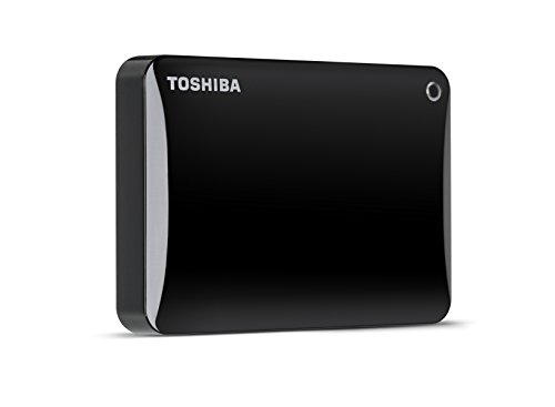 Toshiba Canvio Connect II 3TB Portable Hard Drive, Black (HDTC830XK3C1)