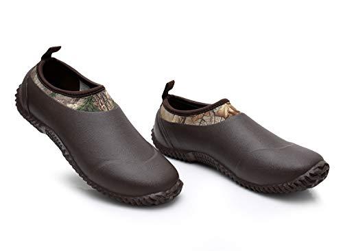Neoprene Shoes Deer Footwear Wash On Boots Brown Car Slip Rain Women's Gardening Rubber Waterproof Boots Triple ETw0qT